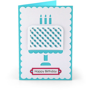 5x7 happy birthday cake card