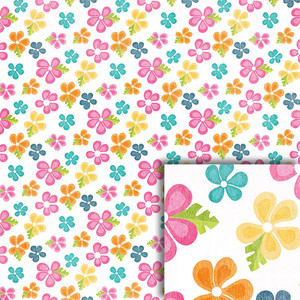 tropical flowers background paper
