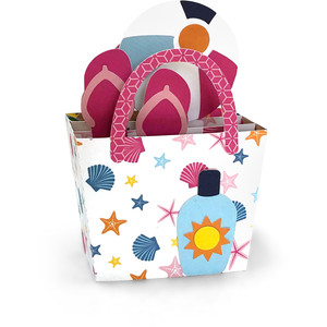 box card beach tote