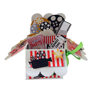 movie-themed pop up card in a box