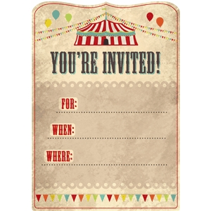 big top invitation grunge pnc
