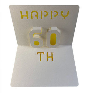 happy 60th popup card