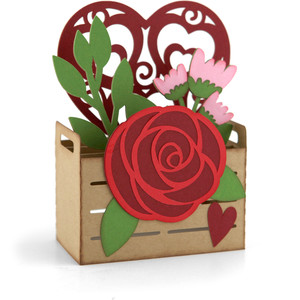 box card valentine crate