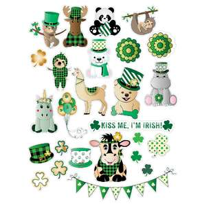 st. patrick's day critters - stickers