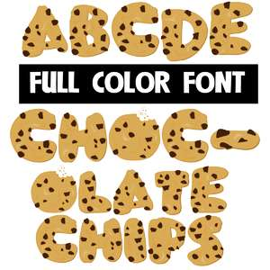 chocolate chips color font
