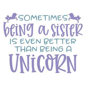sometimes being a sister - unicorn