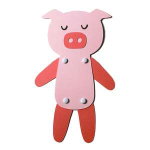 piggy jointed paper doll
