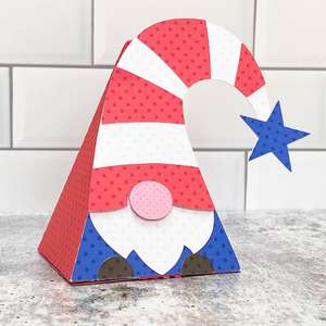 gnome pyramid box 4th of july