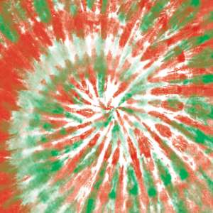 tie-dye red and green pattern