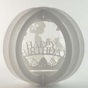 3 layered pop up sphere happy birthday