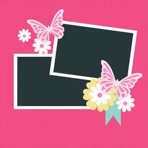 12 x 12 scrapbook layout - butterfly