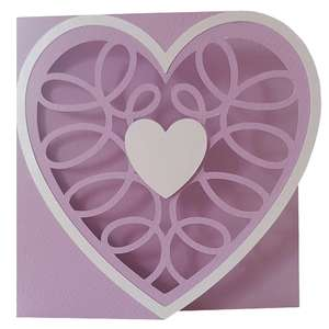 curly heart card