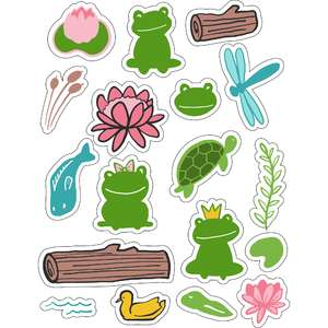 ml froggy pads stickers