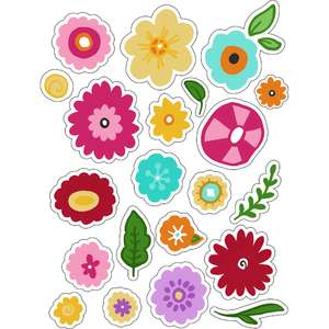 ml flowery floral stickers
