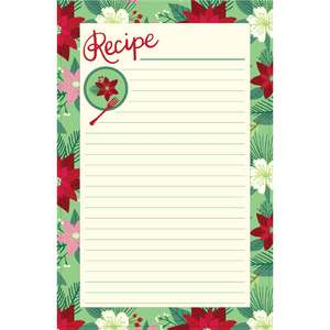 holiday cookbook recipe page floral