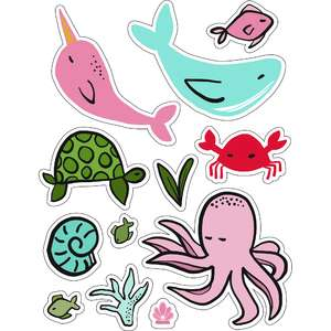ml sea and water stickers