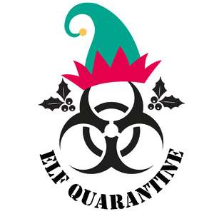 elf quarantine bauble design