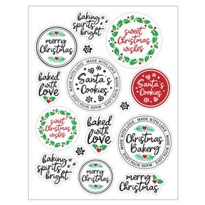 christmas baking sticker sheet template