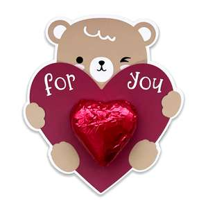 teddy bear valentine card
