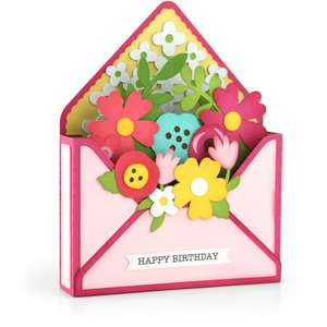 box card envelope flower