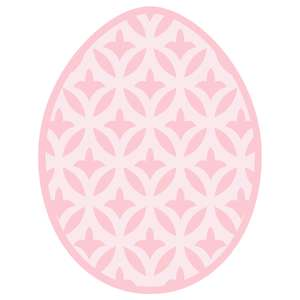 small flower lattice easter egg