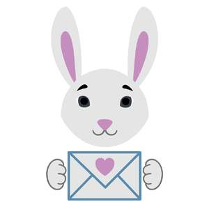 bunny with an envelope