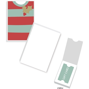 striped sweater gift card box