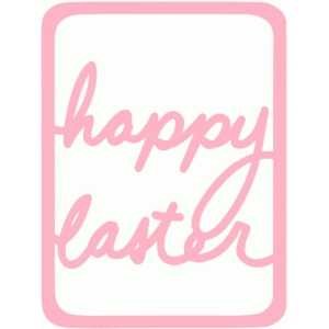 happy easter life card 3x4