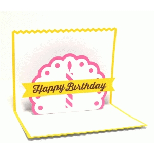 birthday candle pop up card