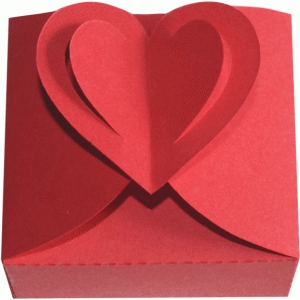 pop out heart closure box