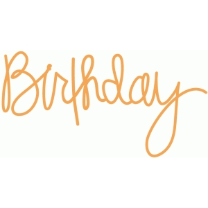 birthday - handwritten script