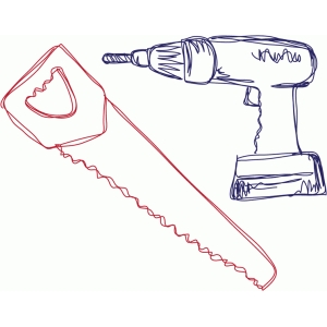 saw and drill sketch