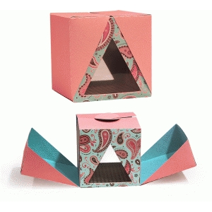 3d triangle surprise box (cube)