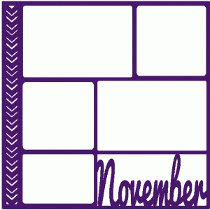 november scrapbook page / template / layout