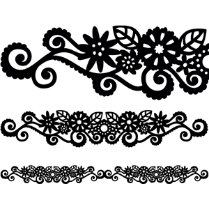 long flower swirl border