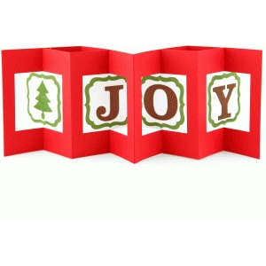 a2 square christmas double lever card