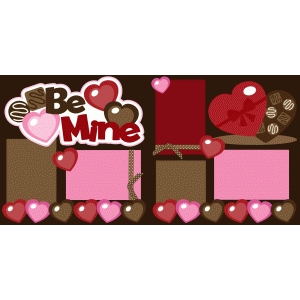 be mine 2 page valentine scrapbook kit