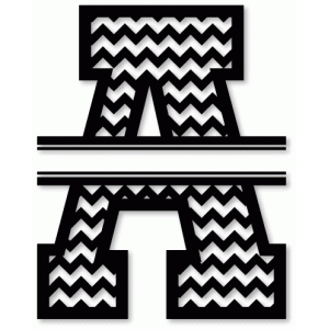 chevron split monogram a