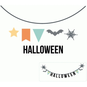 build a halloween banner set
