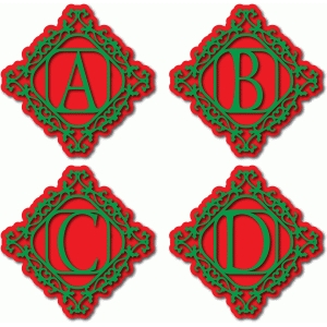 holly frame monogram abcd