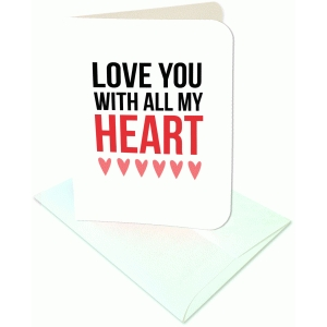love you with all my heart a2 card