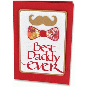 best daddy ever - moustache & bowtie card