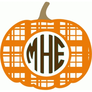 pumpkin plaid monogram