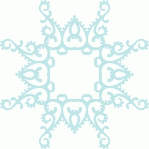 indian snowflake frame