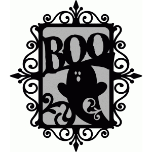flourish frame - boo ghost