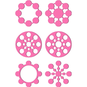 circle embellishments - geometric design