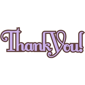 'thank you' straight word phrase