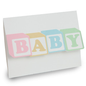 baby blocks folded card