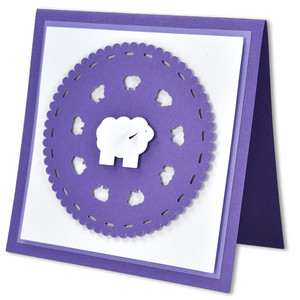 easter lamb doily card