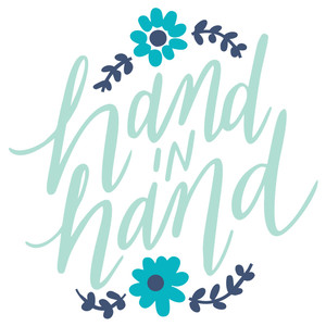 hand in hand handlettered